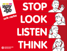 Stop Look Listen Think Sign