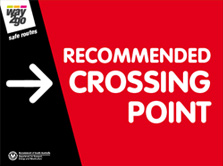 Recommended Crossing Point Sign